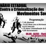 Seminário Estadual Contra a Criminalização dos Movimentos Sociais