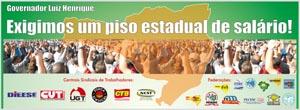 Piso Estadual de Salário: Centrais Sindicais fazem entrevista coletiva para divulgar abaixo-asinado