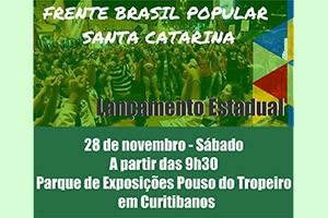 Lançamento da Frente Brasil Popular em Santa Catarina