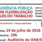 Audiência pública debate a flexibilização das leis trabalhistas