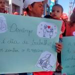 Comerciários protestam pela manutenção de direitos