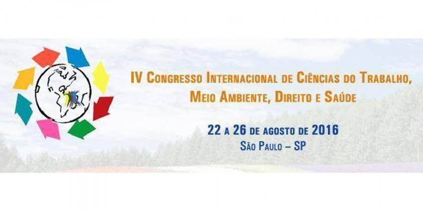 IV Congresso Internacional de Ciências, do Trabalho, Meio Ambiente, Direito e Saúde