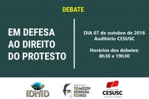 Debate em Defesa do Direito ao Protesto