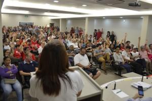 Reunião FECESC sobre greve geral