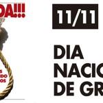 11/11 – DIA NACIONAL DE GREVE – Participe!