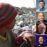 Oito homens têm a mesma riqueza que os 3,6 bilhões mais pobres do mundo