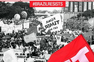 FECESC ocupa brasilia nota da cut