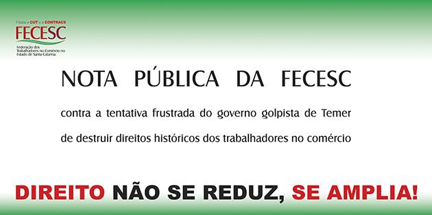 Nota Pública da FECESC
