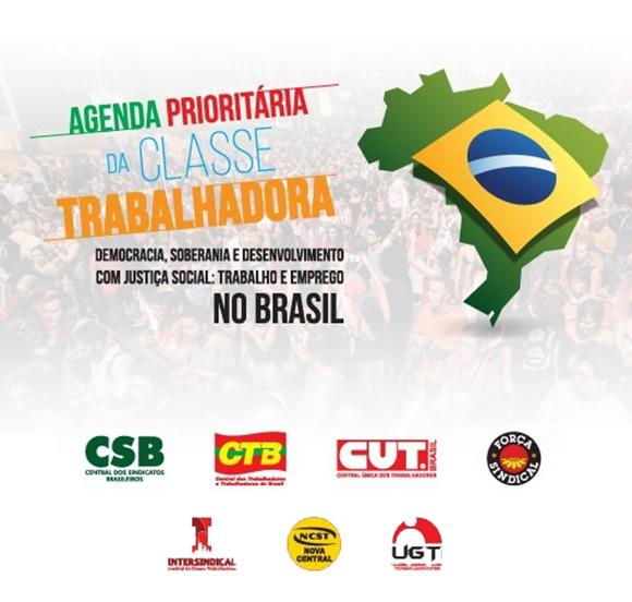 Centrais sindicais lançam agenda prioritária para o Brasil no dia 06/06