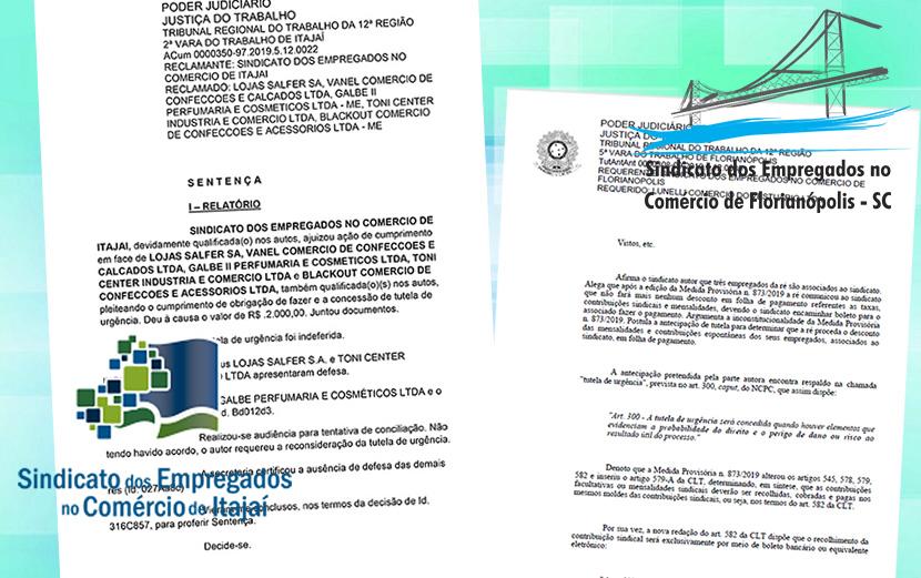 Sindicato de Itajaí garante na Justiça desconto em folha das mensalidades dos associados