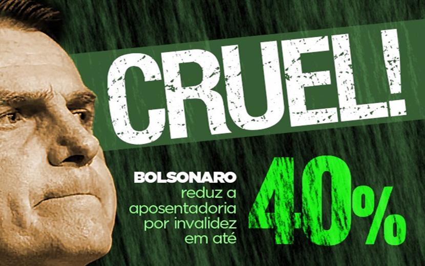 Bolsonaro quer reduzir em até 40% valor da aposentadoria por invalidez
