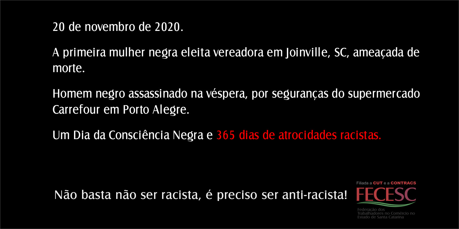 20 de novembro – Dia da Consciência Negra