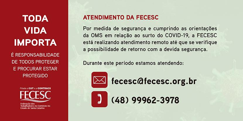 Atendimento da FECESC