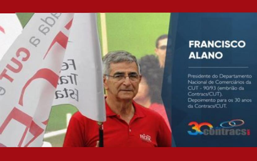 Contracs/CUT 30 anos – Assista depoimento de Francisco Alano, presidente da Fecesc