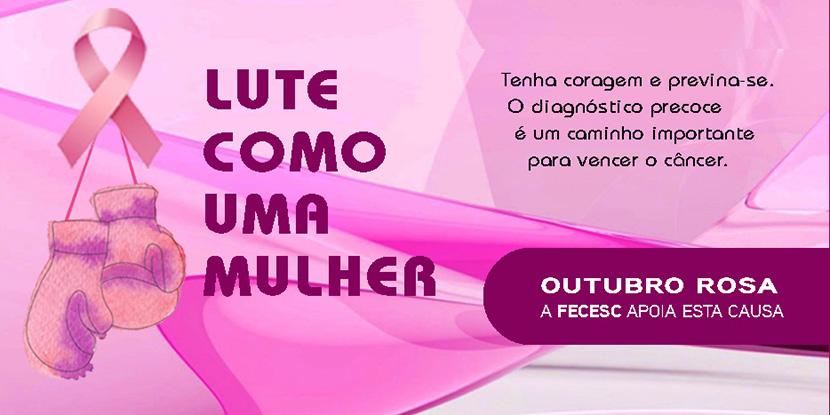 Campanha de prevenção ao câncer de mama e de útero
