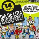 Servidores do INSS realizam ato na Agência da Previdência Social em Florianópolis
